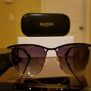 Balmain Black/Gold Sunglasses